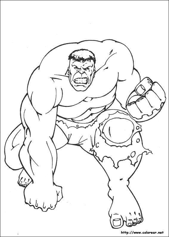 Dibujos Hulk Para Colorear Dibujos Para Pintar Faciles