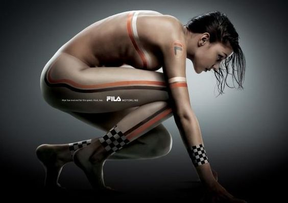 """Fila Sports Clothing: """"WOMAN"""" Print Ad by BBDO Korea 