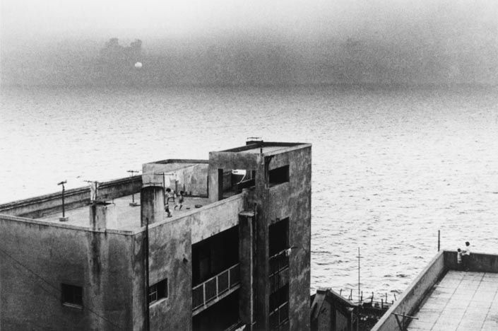 "Ikko NARAHARA :: Island without Green―Gunkanjima: Sunset from ""Human Land″, 1954-57"