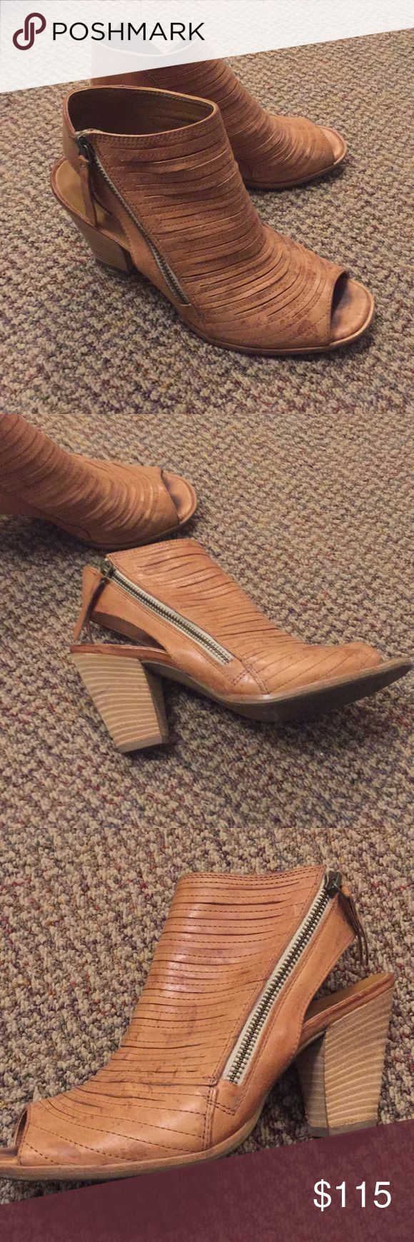 Paul green  'cayanne' leather peep toe sandal Wore a handful (probably 10-15 times in the summer).  Bought from Nordstrom's  Faint rain drop marks on the leather Paul Green Shoes Sandals