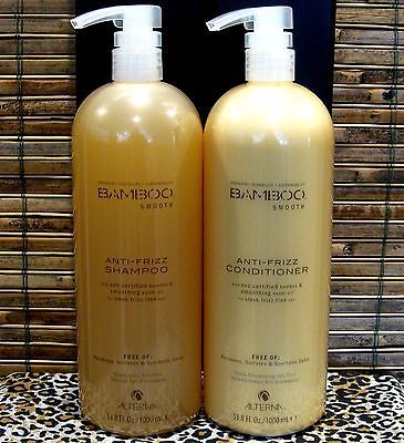 Alterna Bamboo Smooth Anti Frizz Shampoo Conditioner Liter Duo Set 33.8 oz - http://health-beauty.goshoppins.com/hair-care-styling/alterna-bamboo-smooth-anti-frizz-shampoo-conditioner-liter-duo-set-33-8-oz/