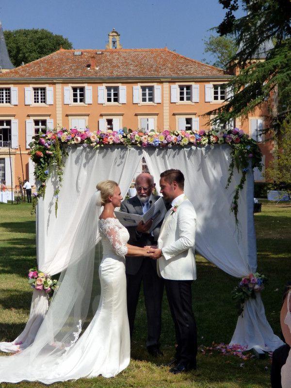A Chateau wedding at Chateau de Roquelune. Pezenas.   Photograph by Cherry Thatcher.