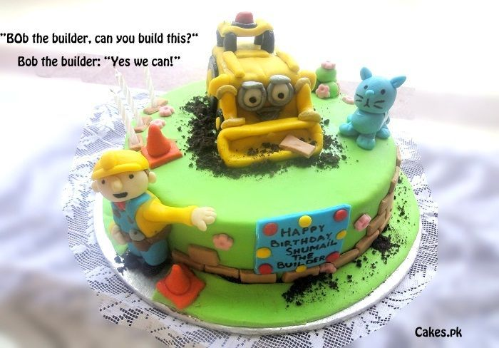 30 Best Images About Bob The Builder Cakes On Pinterest
