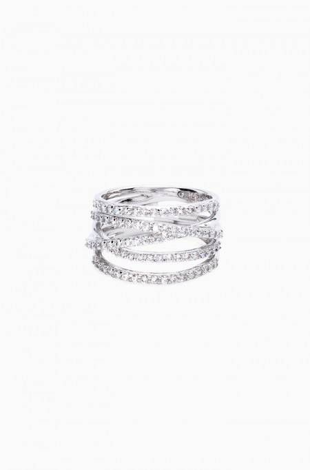 The Stella Pave Ring in silver gives the illusion of stackable bands with the ease of a single ring. Shop silver pave rings at Stella & Dot. www.stelladot.co.uk/camillalh