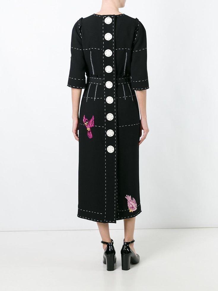Dolce & Gabbana bird appliqué detail dress
