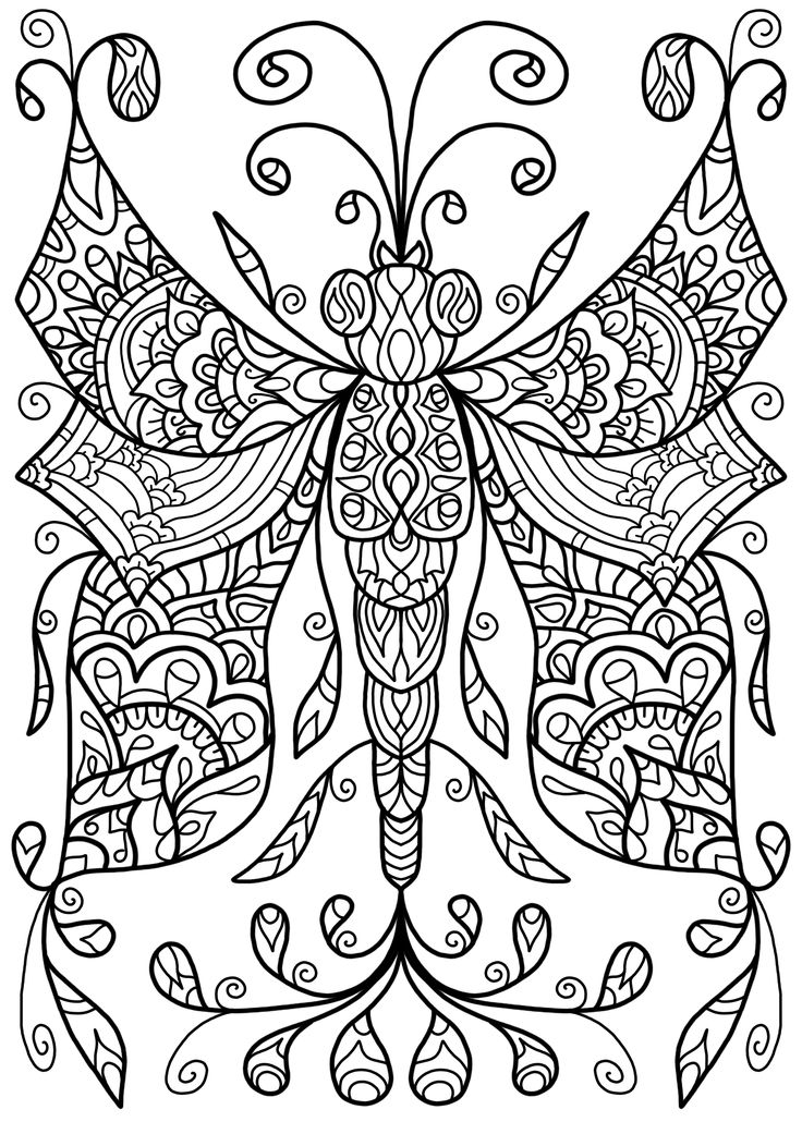Free Colouring Page Dragonfly