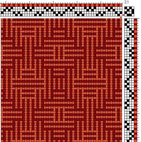 shadow weave | 4-shaft, 4-treadle