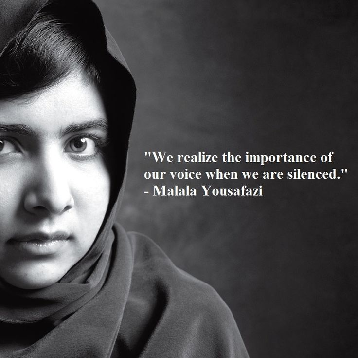 Malala Yousafazi, inspiring youngest winner of the Nobel Peace Prize. Purasentials Essential Oils donates 5% of profits from every sale to the Global Fund for Women to support education and opportunities for women and girls  ~purasentials.com~