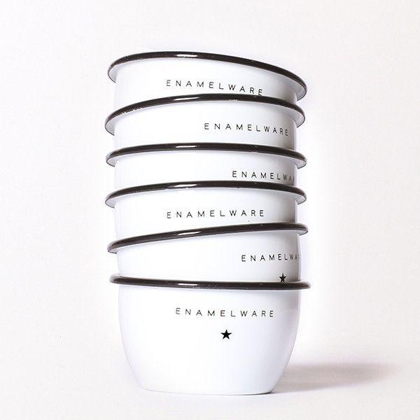 Best Made Company — Seamless & Steadfast Enamel Steel Bowls (Set of Two & Six)