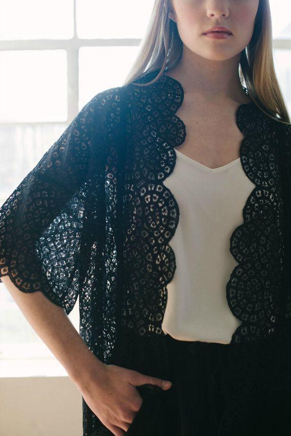 black lace boho cardigan,