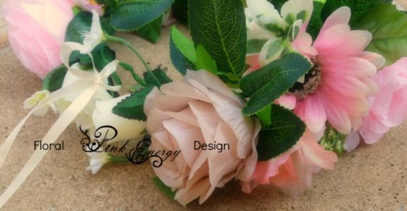 Full bridal flower crowns - adult size, adjustable - Style bold and chunky with a vintage feel.