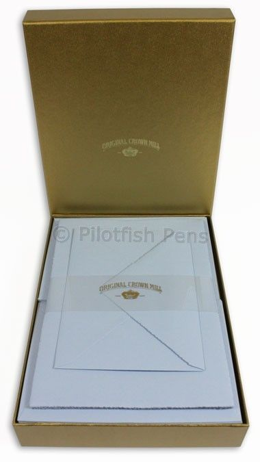 Crown Mill Luxury Letter Writing Paper Stationery Set A5 Sheets/Envelopes Blue | eBay