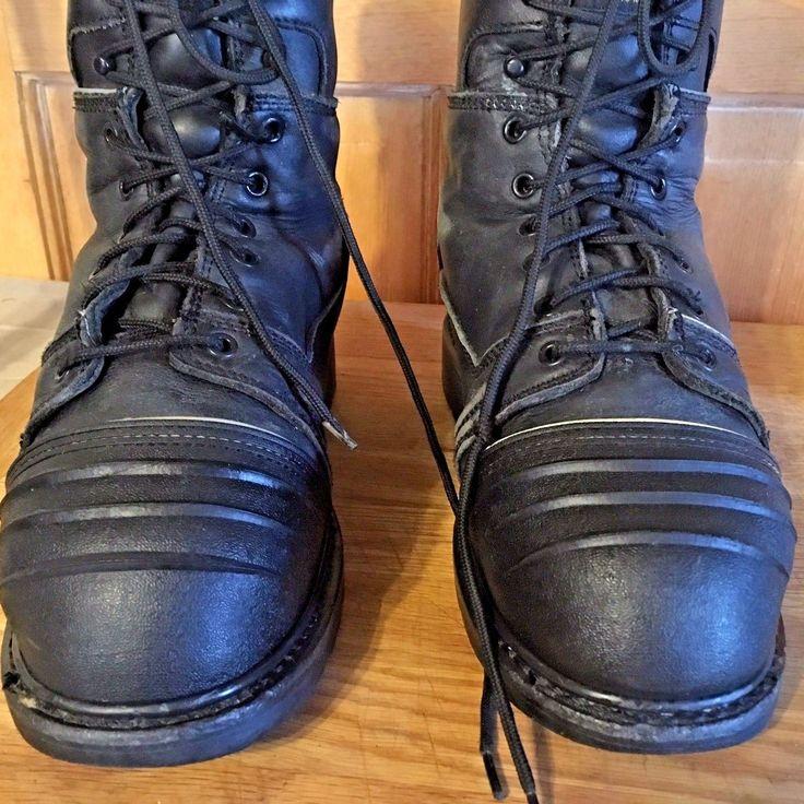 HERMAN SURVIVORS metatarsal steel toe boots black leather ANSI EH certs Size 7D   eBay
