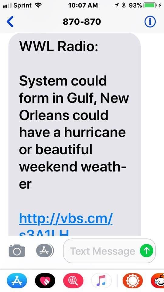 New Orleans weekend forecast.