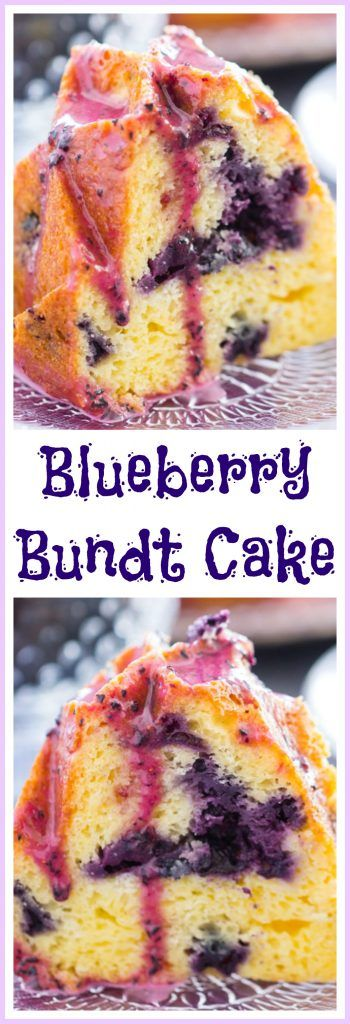 This Blueberry Bundt Cake is quick and easy to make, from beginning to end. It's bursting with fresh, plump blueberries, and doused in an elegant blueberry glaze!