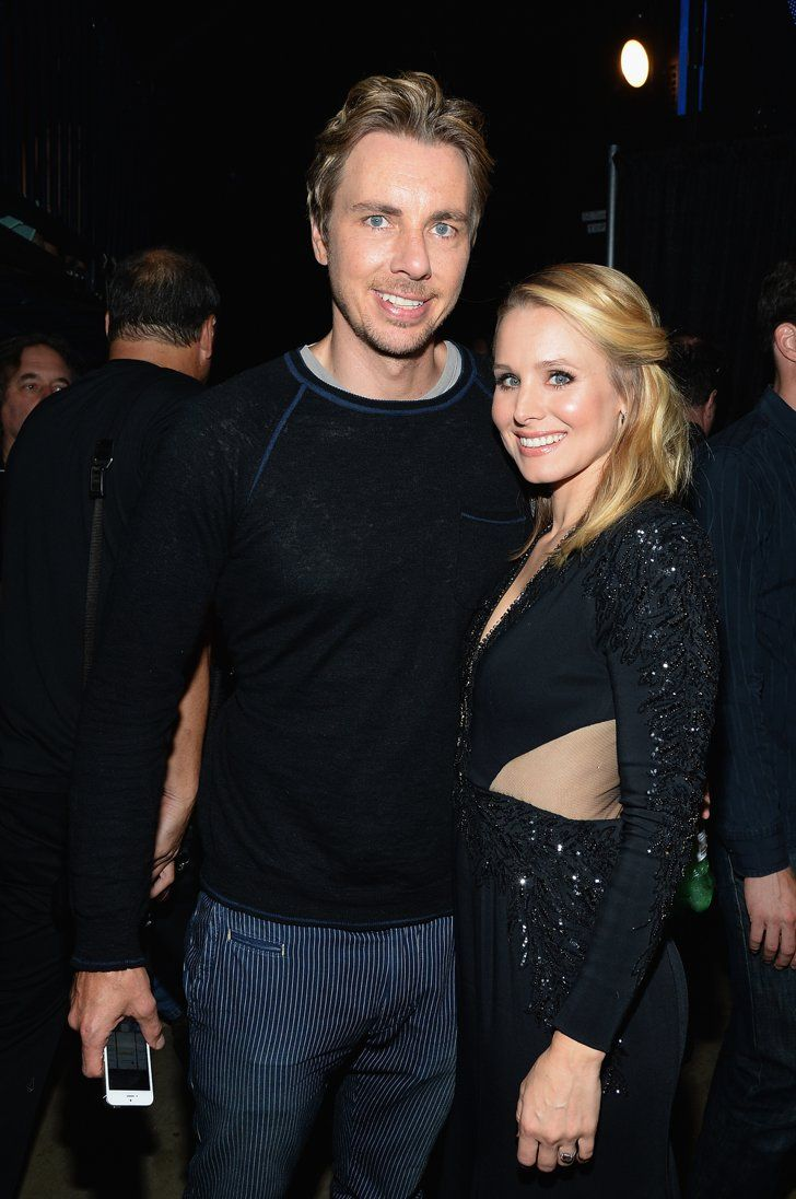 Pin for Later: Forget Marriage, Bring On the Baby Carriage: 33 Celebrities Who Had Babies Before Rings Kristen Bell and Dax Shepard