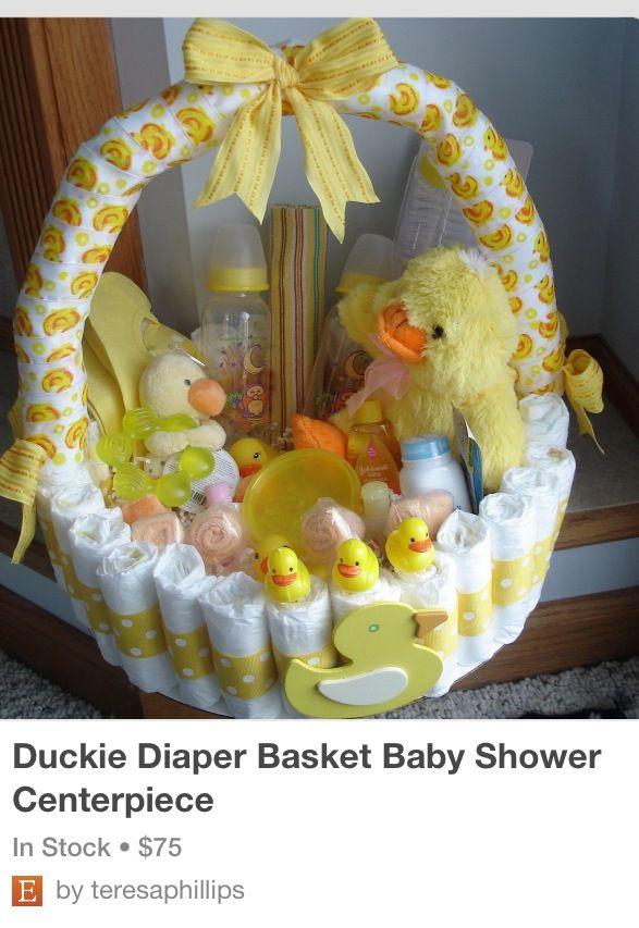Amazing baby shower basket by Teresa Phillips on Etsy $75