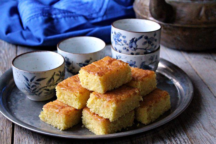 Pastel marroquí de almendra y naranja :: Mandlový koláč s pomerančem na marocký způsob