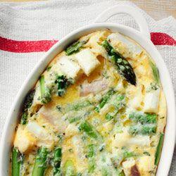 Zapiekany omlet ze szparagami - Przepis