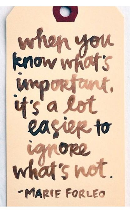 I know what's important, and what is not...too often people get hung up on the unimportant until something opens their eyes to the truth.
