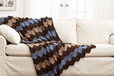 Loops & Threads™ Crochet Waves Afghan