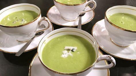 Grön ärtsoppa med gorgonzola