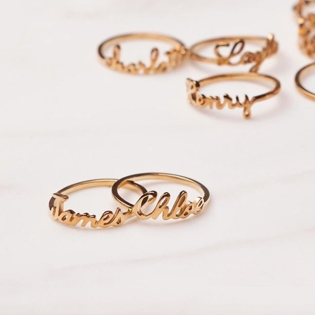 Stackable Name Ring - Children Names Ring - Mother Ring - Mom Ring - Ring for Mom - Mother's Day Gift - Name Ring