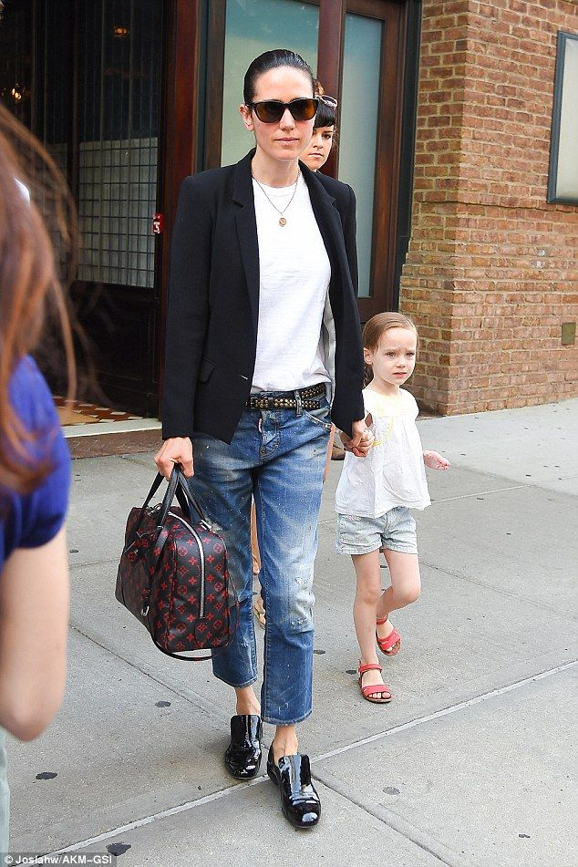 Family time: Jennifer Connelly enjoyed a day of bonding with her youngest Agnes in New Yor...