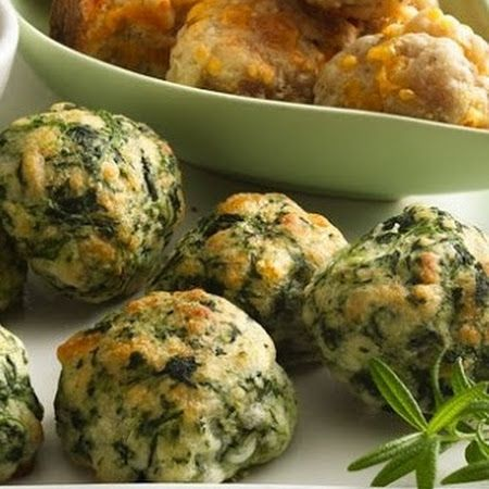 Spinach Balls with Parmesan  Cheddar