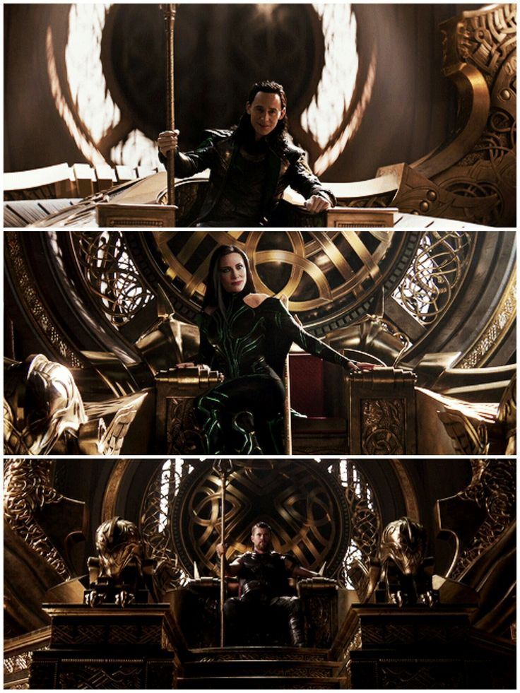 Anyone notice that Thor is sitting up on the throne, just like Odin did, but Loki and Hela are just lounging on it?