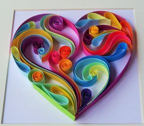 Quilled heart...Hey, I found this really awesome Etsy listing at https://www.etsy.com/listing/231657624/wall-art-heart-shape-that-can-brighten