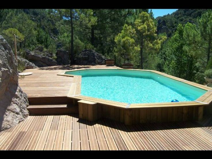 1000 ideas about piscine bois enterr e on pinterest - Petite piscine semi enterree ...