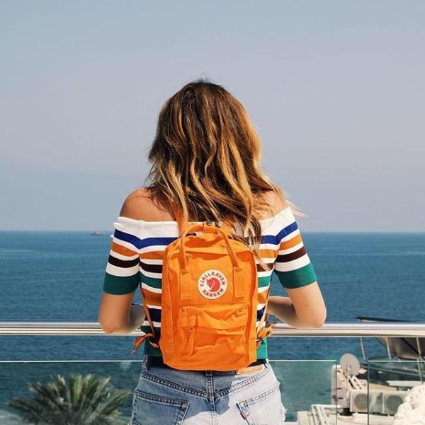 Fjallraven Kanken Classic Mini Orange Backpack - Urban Outfitters