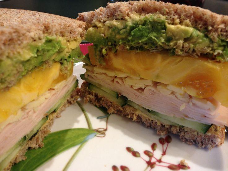 Receta Sandwich de pavo