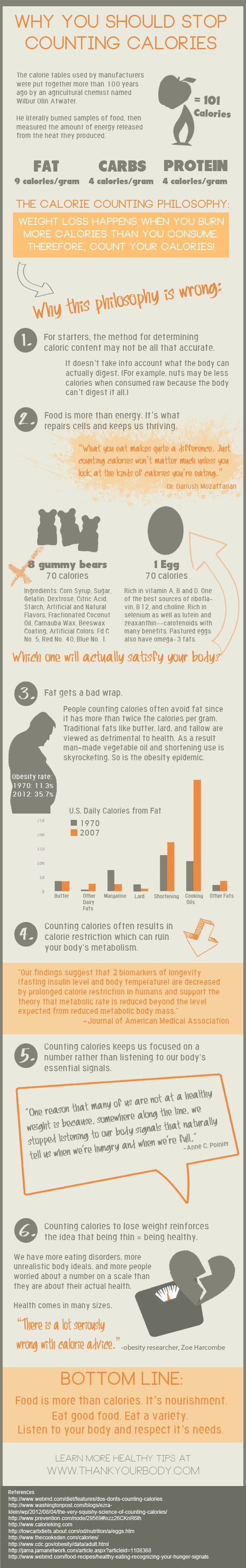 Why you should not count calories infographic