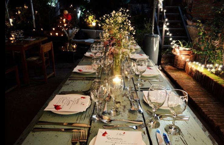 Secret Garden Event - Under the stars feast Long Table