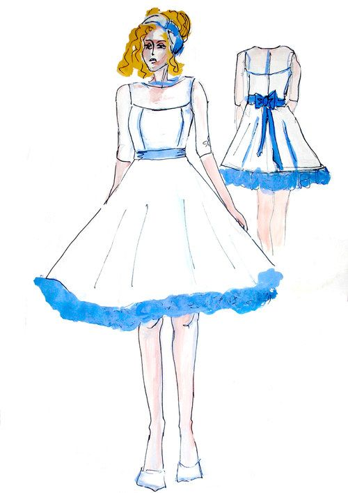 Krátké svatební šaty à la 50. léta na přání