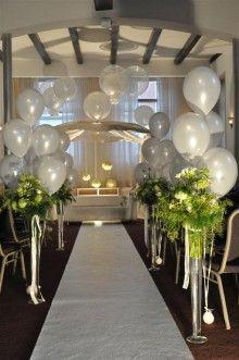 Combinatie bloemen en ballonnen