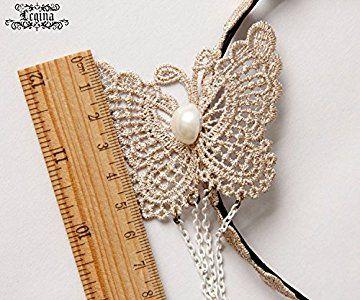 [レジーナ] LEGINA 蝶々モチーフ カチューシャ レース素材 ホワイト 高品質 ゴシック・ゴスロリファッションに 女性用アクセサリー [CS-LE-0653]