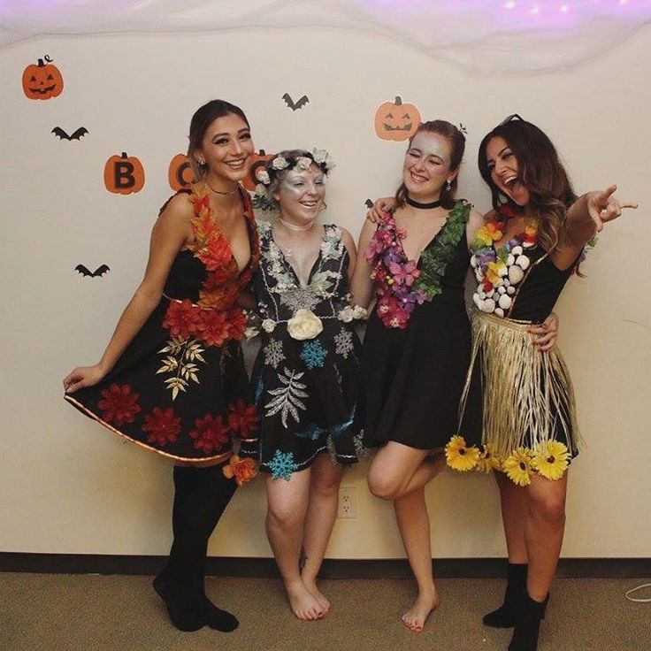 4 seasons group Halloween costume, four seasons, sprites, fairies