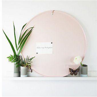 Rond magneetbord roze - deens.nl