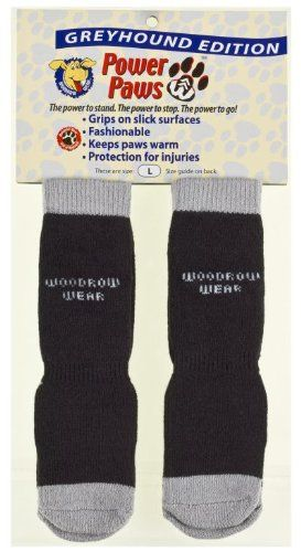 Power Paws, traction socks for dogs, Black & Gray, Greyhound L, fits up to 95 lbs. - http://www.thepuppy.org/power-paws-traction-socks-for-dogs-black-gray-greyhound-l-fits-up-to-95-lbs/