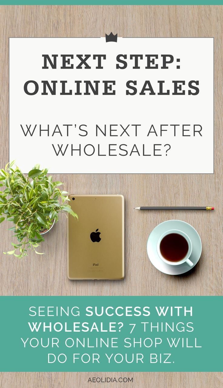 Successful With Wholesale 7 Reasons To Focus On Online Sales Aeolidia Online Sales Wholesale Product Based Business