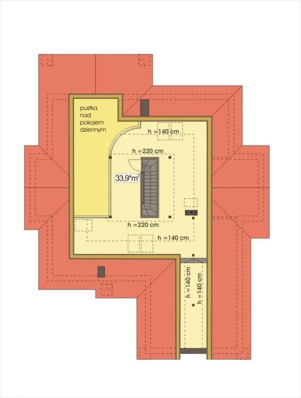 Rzut Hr Arabella Wersja B Z Antresola I Piwnica Ce Floor Plans