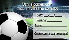 Convite de Futebol para imprimir « Aniversário de Criança