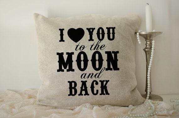 I love you to the moon and back pillows 40x40 by lptshirt on Etsy