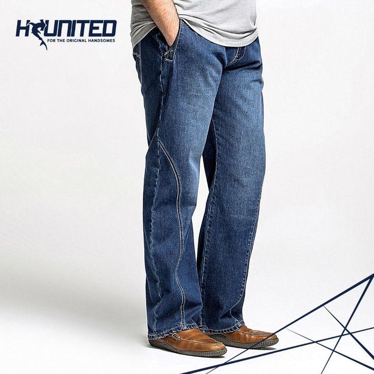 Новинка 2014 года. Мужские джинсы, большие размеры, 38, 40, 42, 44 ,46, 48. Стильные повседневные мужские джинсы. Мужские брюки. Мужские брюки из джинса