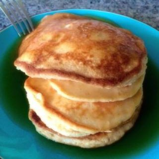 Fluffy Coconut Protein Pancakes