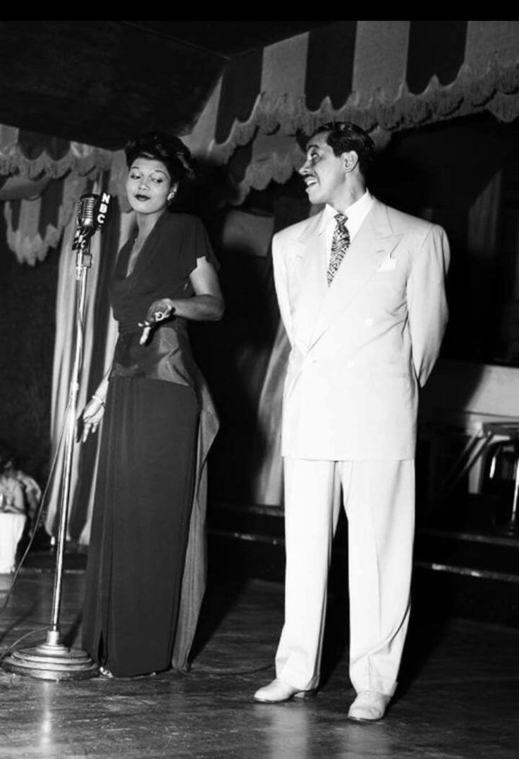 Pearl Bailey and Cab Calloway, 1940's.