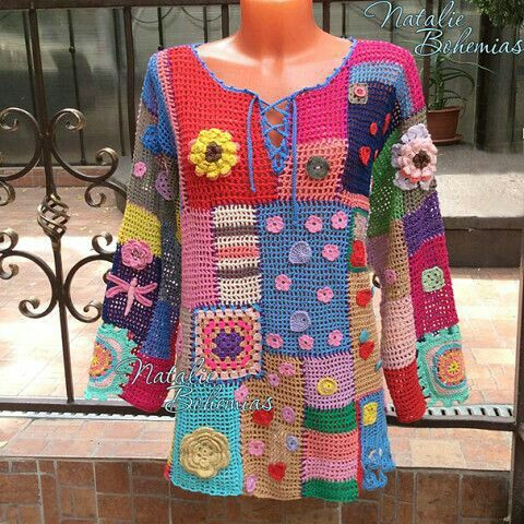 Completely tricked out crochet sweater